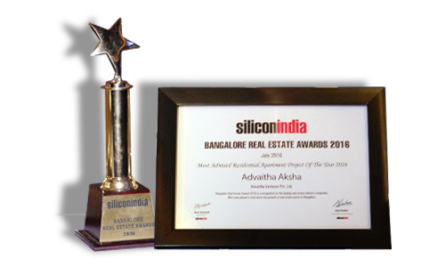 Silicon India Real Estate Award - Advaitha Aksha